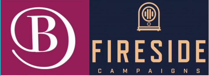 Image: Logos for Becker Digital Strategies and Fireside Campaigns